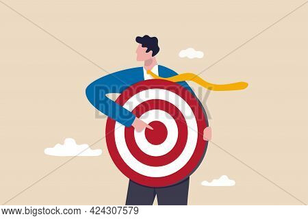 Focus On Business Target, Setting Goal For Motivation, Target Audience For Advertising Or Purpose Fo