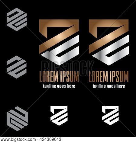 Dc And De Monogram Symbol Concept Vector Set For Design Element, Ideas, Brand, Identity, Or Any Othe