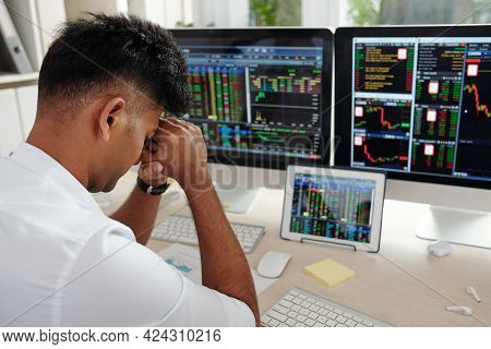 Daytrader Almost Crying After Losing All His Money Trading Stocks And Currency