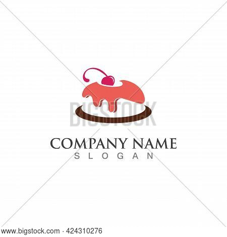 Cake And Bakery Sweet Logo Template Design Image Concept Bakery Shop Vector