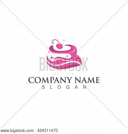 Cake And Bakery Sweet Logo Template Design Image Concept Bakery Shop