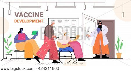 Aged Husband Caregiver With Senior Woman In Wheelchair Walking Together Healthcare Concept Full Leng