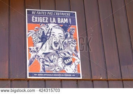 Marsac-sur-l'isle , Aquitaine France - 06 16 2021 : Bam Brasserie Artisanale De Marsac Sur L'isle Lo
