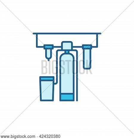 Water Treatment Process Filtration Systems Colored Icon