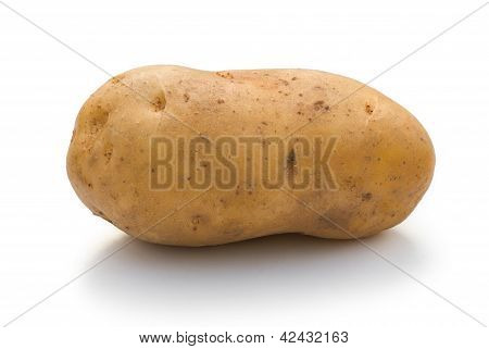 Potatoe On White With Clipping Path