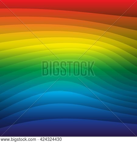 Abstract Colorfull Background. Rainbow. Visible Spectrum. Childish Design Template. Vector Illustrat