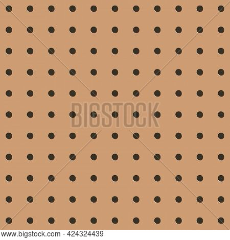 Metal Peg Board Perforated Texture Background Material With Round Holes Seamless Pattern Board Vecto