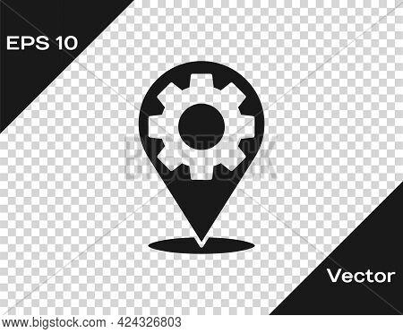 Black Car Service Icon Isolated On Transparent Background. Auto Mechanic Service. Repair Service Aut