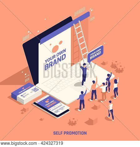 Self Promotion Own Brand Building Creating Personal Website Reaching Target Market Customers Isometr