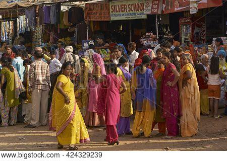 Pushkar, Rajasthan, India - November 9, 2008: Street Scene In Pushkar During The Annual Pushkar Fair