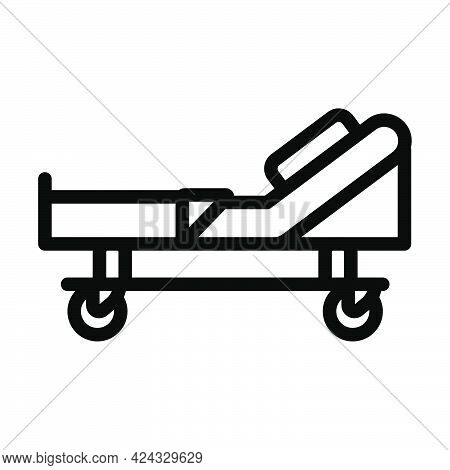 Hospital Bed Icon. Bold Outline Design With Editable Stroke Width. Vector Illustration.