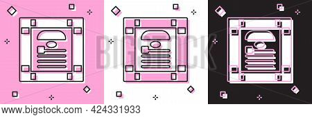 Set 26 November India Constitution Day Icon Isolated On Pink And White, Black Background. Vector