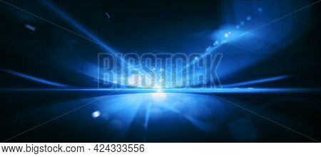 Abstract Dark Blue Cosmos Background Texture, Mosk Up