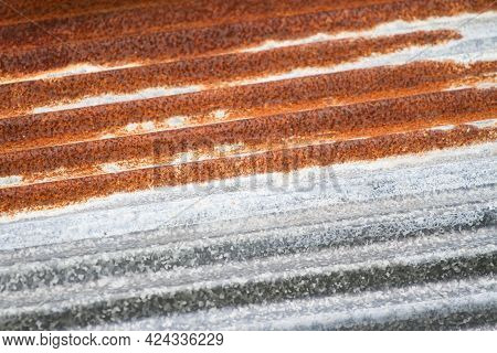 Old Rusted Zinc Surface Texture Gray Galvanized Iron Wall Texture, Zinc With Rust Pattern Background