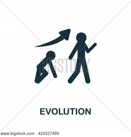 Evolution Icon. Monochrome Simple Element From Personal Growth Collection. Creative Evolution Icon F