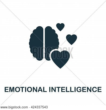 Emotional Intelligence Icon. Monochrome Simple Element From Personal Growth Collection. Creative Emo