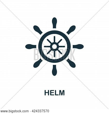 Helm Icon. Monochrome Simple Element From Personal Growth Collection. Creative Helm Icon For Web Des