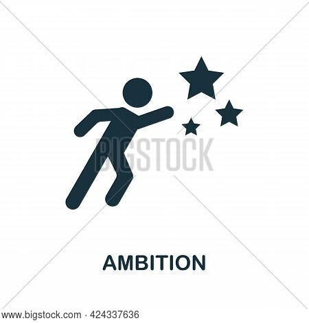 Ambition Icon. Monochrome Simple Element From Personal Growth Collection. Creative Ambition Icon For