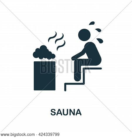 Sauna Icon. Monochrome Simple Element From Sauna Collection. Creative Sauna Icon For Web Design, Tem