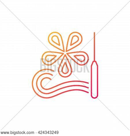 Paper Quilling Gradient Linear Vector Icon. Creating Decorative Designs. Using Slotted Tool. Paper F