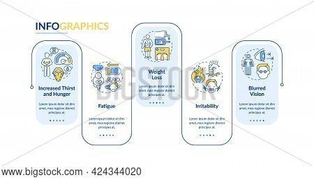 Diabetes Symptoms Vector Infographic Template. Increased Thirst Presentation Outline Design Elements