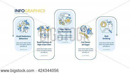 Diabetes Prevention Tips Vector Infographic Template. Sedentary Presentation Outline Design Elements