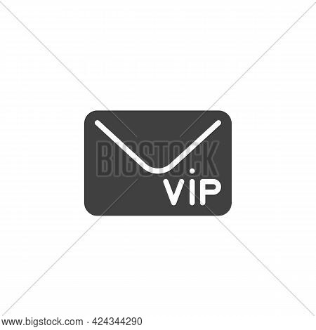 Vip Invitation Envelope Vector Icon. Filled Flat Sign For Mobile Concept And Web Design. Vip Member