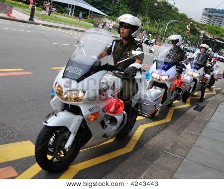 Military Police On Motorbikes