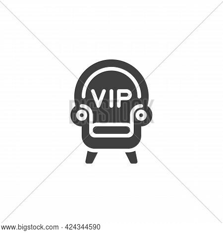 Vip Seat Vector Icon. Filled Flat Sign For Mobile Concept And Web Design. Vip Armchair Glyph Icon. S