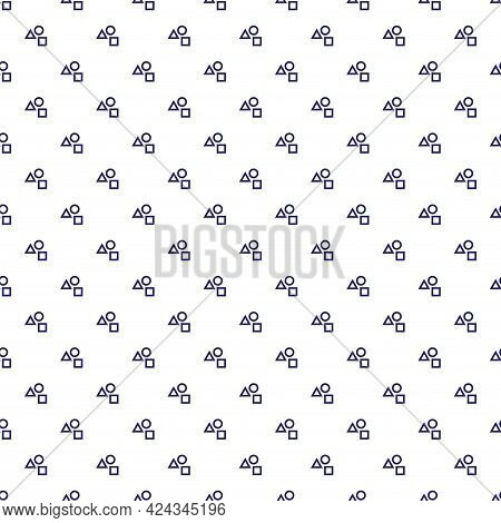 Minimal Menswear Seamless Pattern With Small Triangle Square Circle Elements Ornament. Male Or Unise