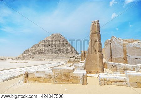The Step Pyramid At Saqqara Is The Oldest Surviving Large Stone Building In The World. Built By The