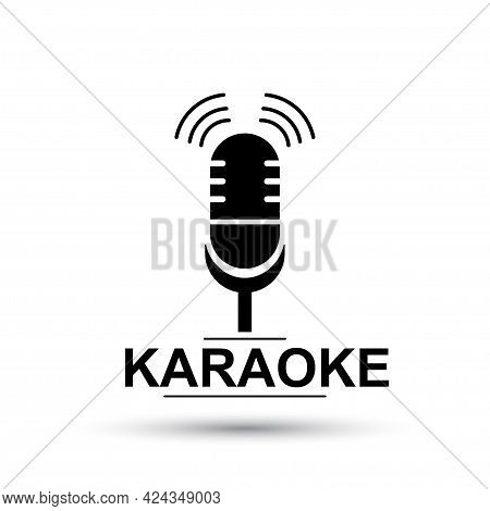 Karaoke Icon. Vector Illustration Of Isolated Microphone