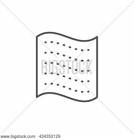 Perforated Napkin Line Outline Icon Isolated On White