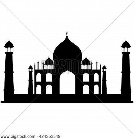 Taj Mahal Vector, Indian Agra Temple Illustration