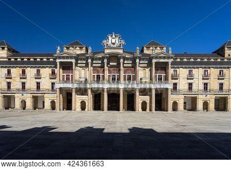 Gijon, Spain - September 28, 2019: Square Of Laboral University Of Gijon In A Sunny Day, Asturias, S
