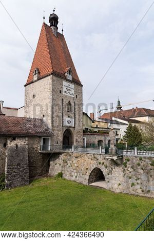 Historic Böhmertor And Fragments Of City Fortifications From The Municipality Of Freistadt - Austria