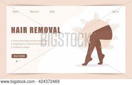Hair Removal. Landing Page Template. Laser And Wax Epilation. Morning Routine. Perfect Smooth Africa
