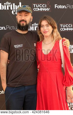 LOS ANGELES - JUN 16:  Jimmy Giannopoulos, Clara McGregor at The Birthday Cake LA Premiere at the Fine Arts Theater on June 16, 2021 in Beverly Hills, CA