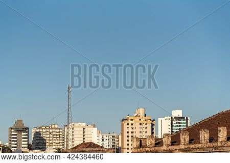 Urban Area And Center Of The City Of Ijui In Southern Brazil. City Of The State Of Rio Grande Do Sul
