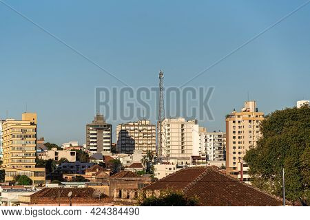 Urban Area And Center Of The City Of Ijui In Southern Brazil