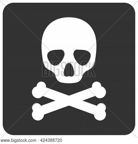 Death Box Icon With Flat Style. Isolated Vector Death Box Icon Image, Simple Style.