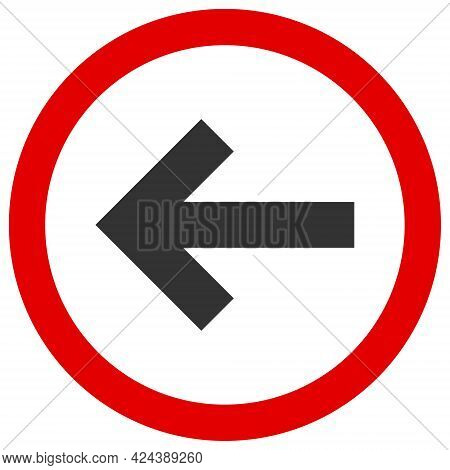 Back Direction Icon With Flat Style. Isolated Vector Back Direction Icon Image, Simple Style.