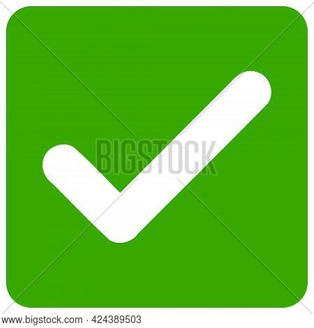 Confirmation Checkbox Icon With Flat Style. Isolated Vector Confirmation Checkbox Icon Illustrations