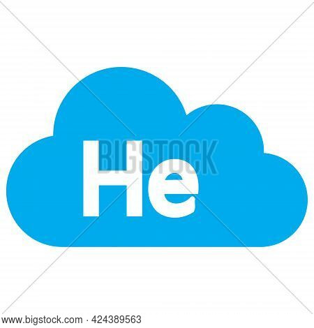 Helium Gas Icon With Flat Style. Isolated Vector Helium Gas Icon Illustrations, Simple Style.