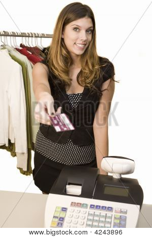 Woman Paying At Register