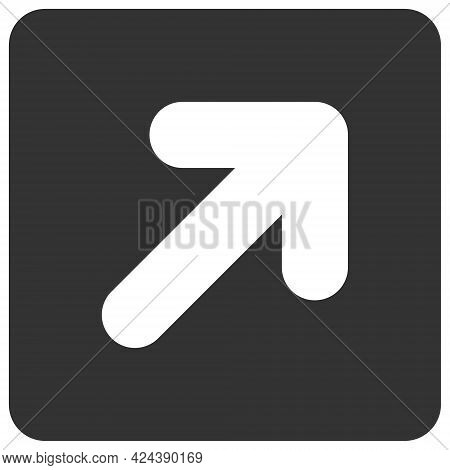 Right Up Direction Icon With Flat Style. Isolated Vector Right Up Direction Icon Illustrations, Simp