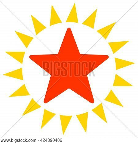 Star Shine Icon With Flat Style. Isolated Vector Star Shine Icon Image, Simple Style.
