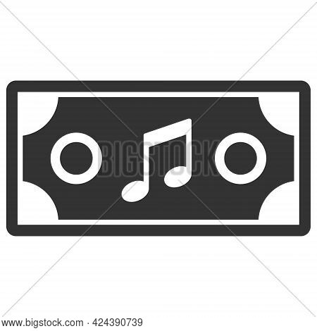 Concert Ticket Icon With Flat Style. Isolated Vector Concert Ticket Icon Image, Simple Style.