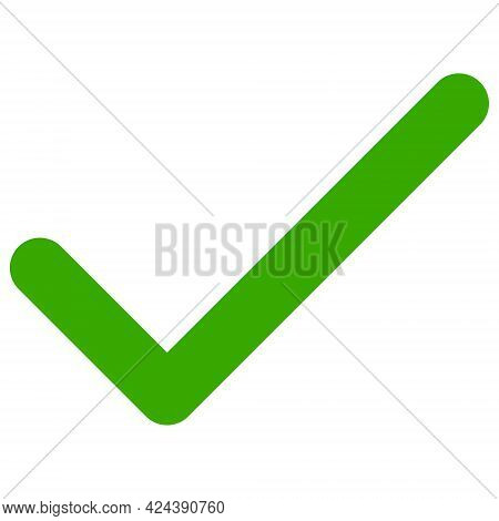 Apply Tick Icon With Flat Style. Isolated Vector Apply Tick Icon Illustrations, Simple Style.