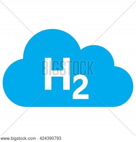 Hydrogen Gas Icon With Flat Style. Isolated Vector Hydrogen Gas Icon Image, Simple Style.